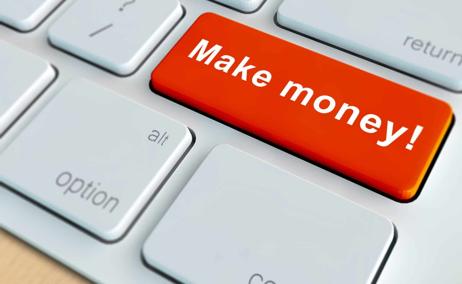 Red button with make money slogan, exactly what micro job sites promote