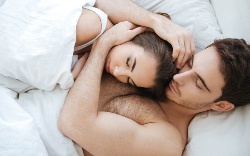 One of the reasons to sleep more is to connect with your loved one.