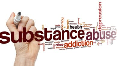 substance abuse words cloud